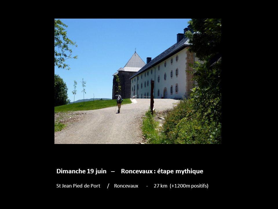 Dimanche 19 juin – Roncevaux : étape mythique St Jean Pied de Port / Roncevaux - 27 km (+1200m positifs)