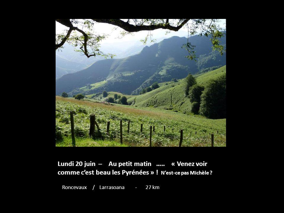 Lundi 20 juin – Au petit matin …..« Venez voir comme cest beau les Pyrénées » .