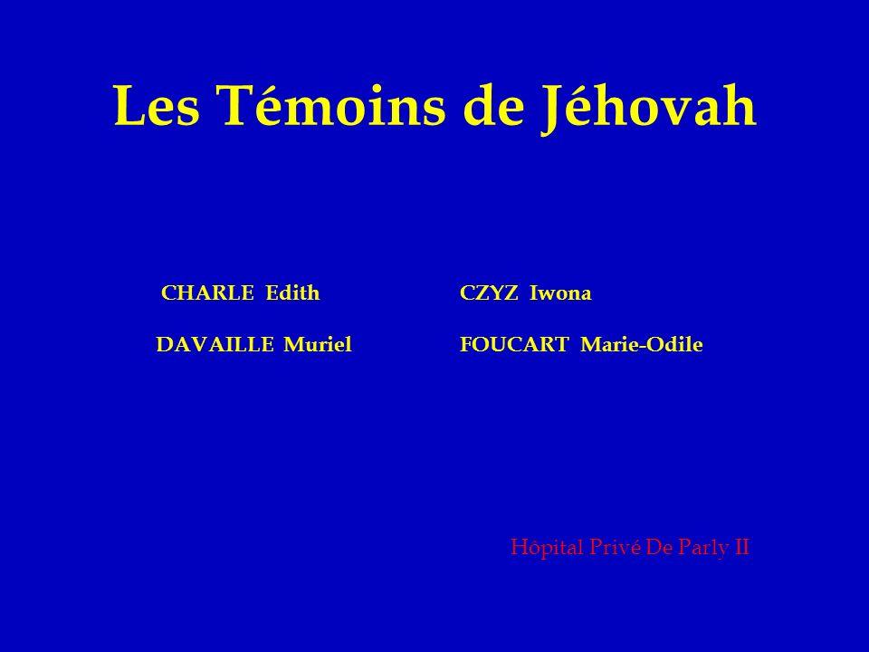 Introduction Les témoins de Jéhovah : - Refus de transfusion - Chirurgie potentiellement hémorragique