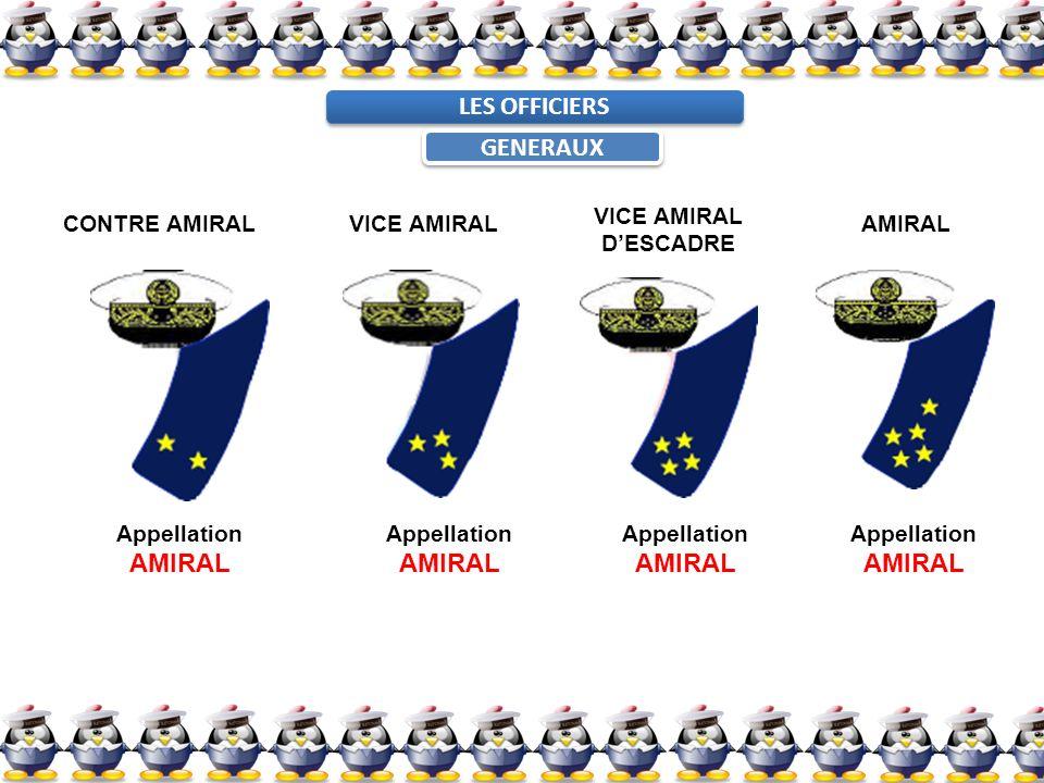 LES OFFICIERS GENERAUX CONTRE AMIRALVICE AMIRAL DESCADRE AMIRAL Appellation AMIRAL Appellation AMIRAL Appellation AMIRAL Appellation AMIRAL
