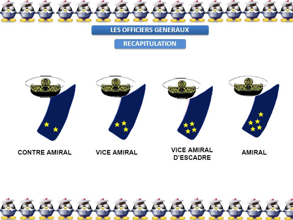 LES OFFICIERS GENERAUX CONTRE AMIRALVICE AMIRAL DESCADRE AMIRAL RECAPITULATION