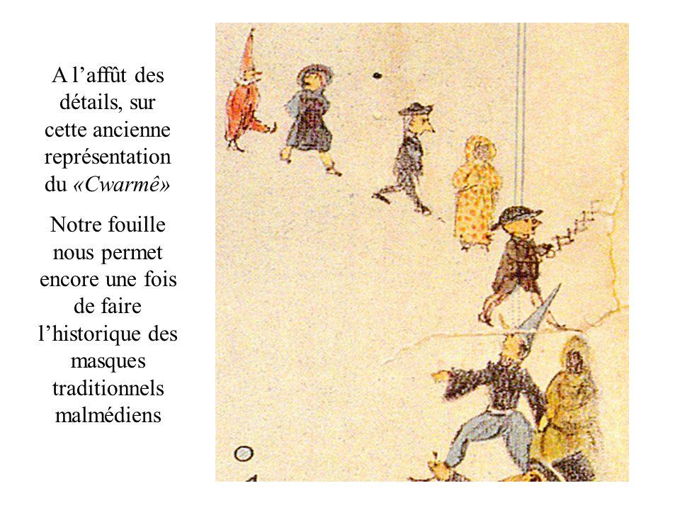Vers 1880-1890 le «hape-tchâr» était un masque cité à part dans les commentaires du journal local «La Semaine»