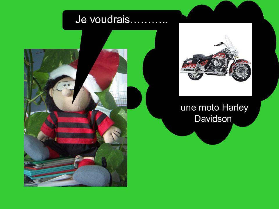 Je voudrais……….. une moto Harley Davidson