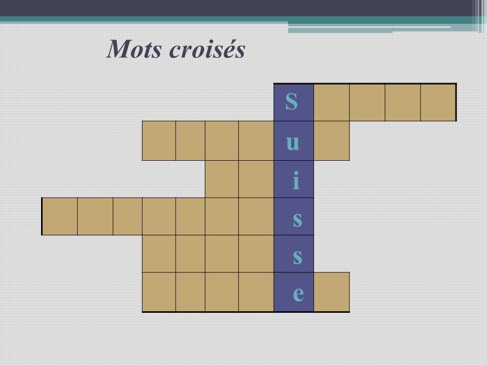 Mots croisés S u i s s e