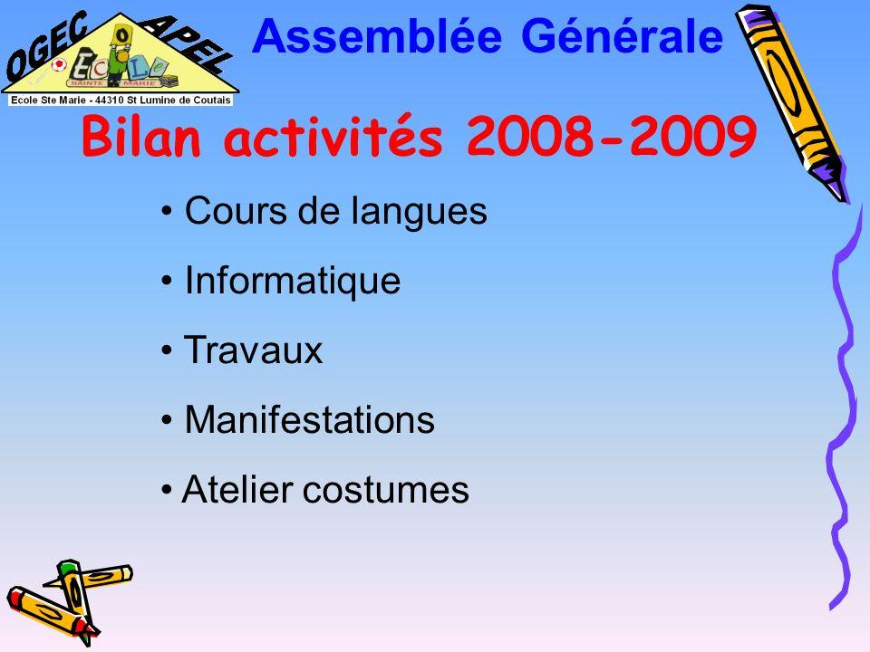 Assemblée Générale Budget prévisionnel OGEC 2009-2010