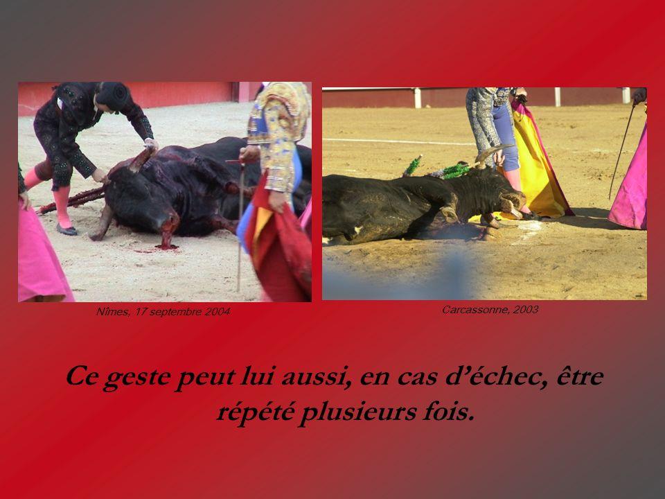 Ce geste peut lui aussi, en cas déchec, être répété plusieurs fois. Nîmes, 17 septembre 2004 Carcassonne, 2003