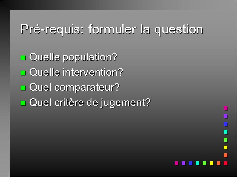 Types de questions n Background question livre de synthèse (débutants) n Une racine: qui comment ou pourquoi quest ce que ou?... n …Une maladie n Fore