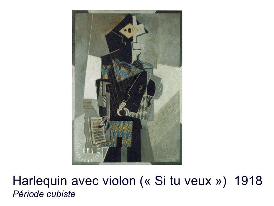 Harlequin avec violon (« Si tu veux ») 1918 Période cubiste