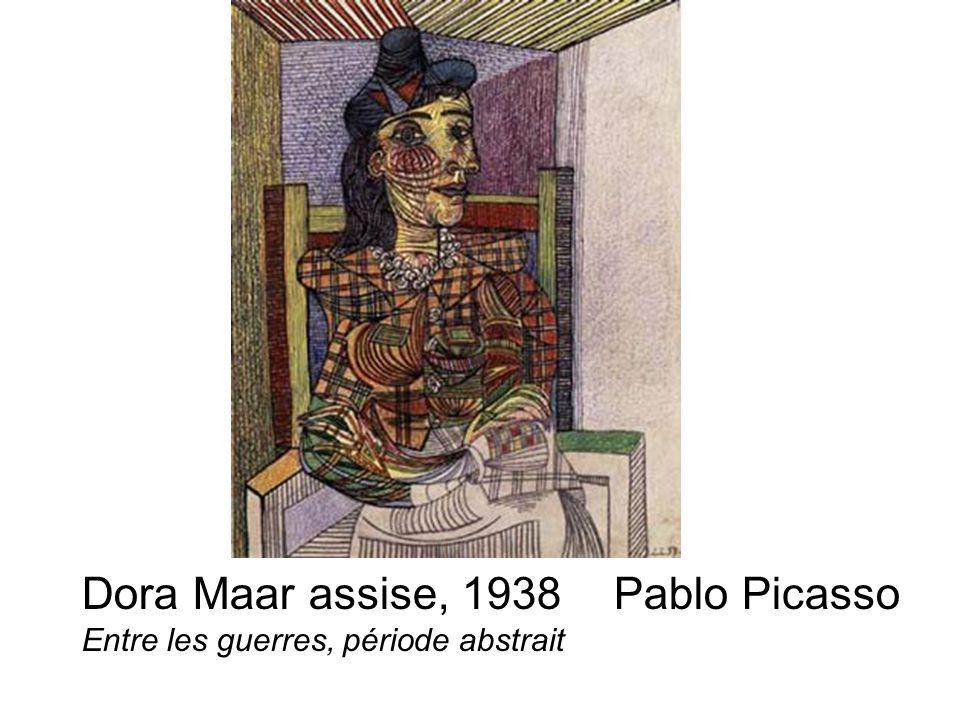 Dora Maar assise, 1938 Pablo Picasso Entre les guerres, période abstrait