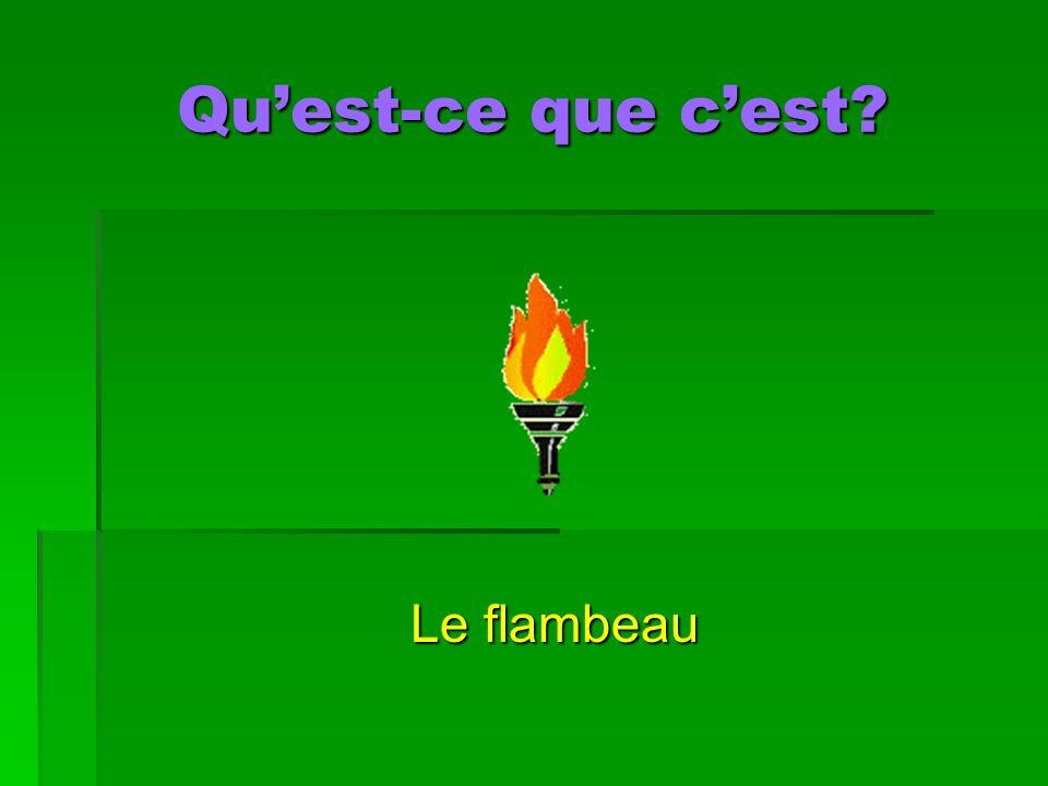 Quest-ce que cest Le flambeau