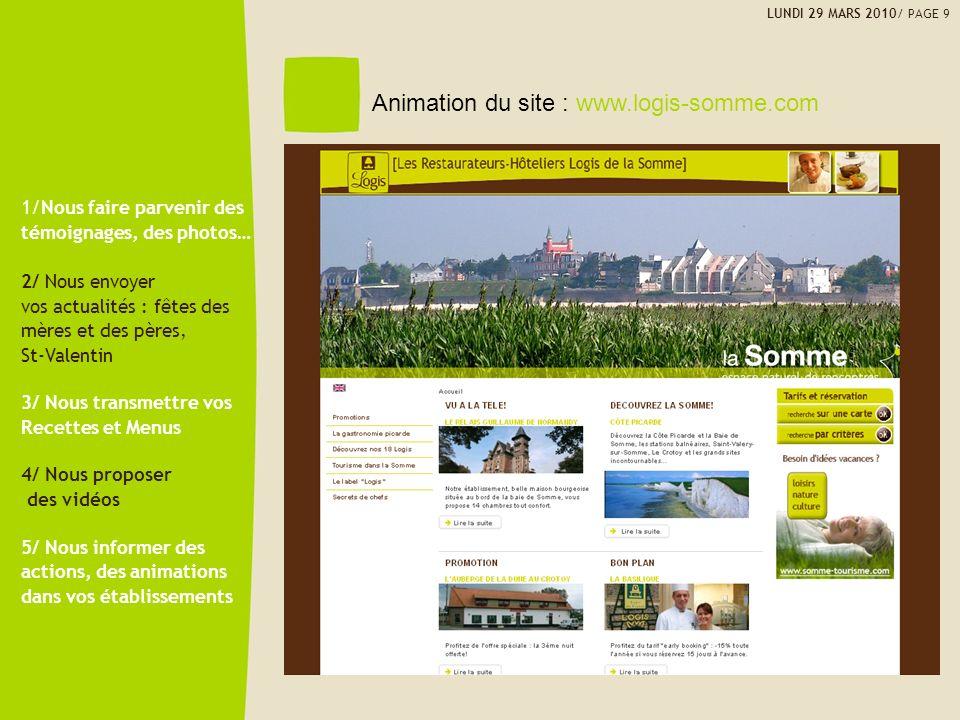 Animation du site : www.logis-somme.com 1/Nous faire parvenir des témoignages, des photos… 2/ Nous envoyer vos actualités : fêtes des mères et des pèr