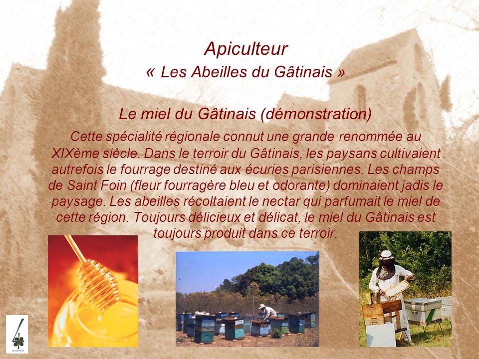 Apiculteur « Les Abeilles du Gâtinais » Le miel du Gâtinais (démonstration) Cette spécialité régionale connut une grande renommée au XIXème siècle. Da