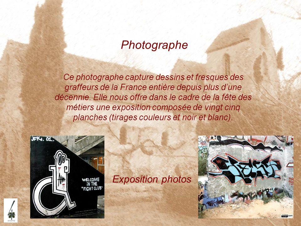 Photographe Exposition photos Ce photographe capture dessins et fresques des graffeurs de la France entière depuis plus dune décennie. Elle nous offre