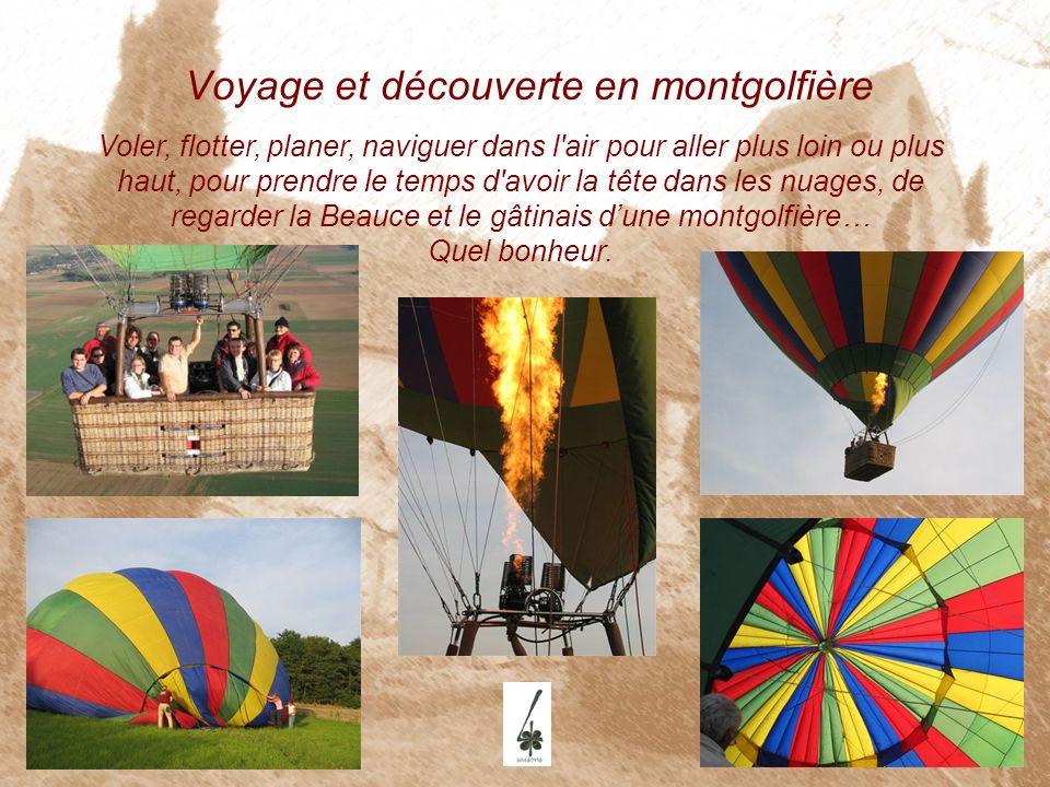 Voyage et découverte en montgolfière Voler, flotter, planer, naviguer dans l'air pour aller plus loin ou plus haut, pour prendre le temps d'avoir la t