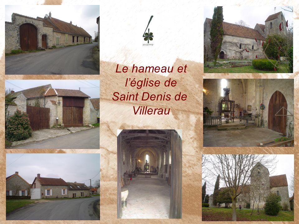 Le hameau et léglise de Saint Denis de Villerau