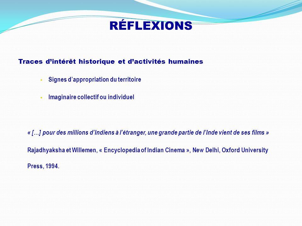 RÉFLEXIONS Traces dintérêt historique et dactivités humaines Signes dappropriation du territoire Imaginaire collectif ou individuel « […] pour des mil
