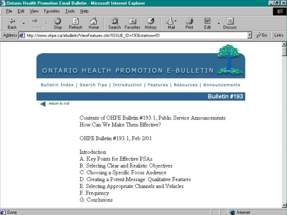 100, rue College Bureau 213 The Banting Institute Université de Toronto Toronto (Ontario) M5G 1L5 Téléphone : (416) 978-0522 Télécopieur : (416) 971-2