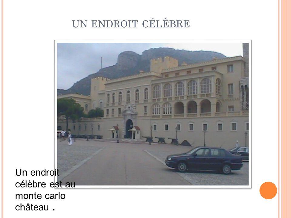 UN ENDROIT CÉLÈBRE Un endroit célèbre est au monte carlo château.