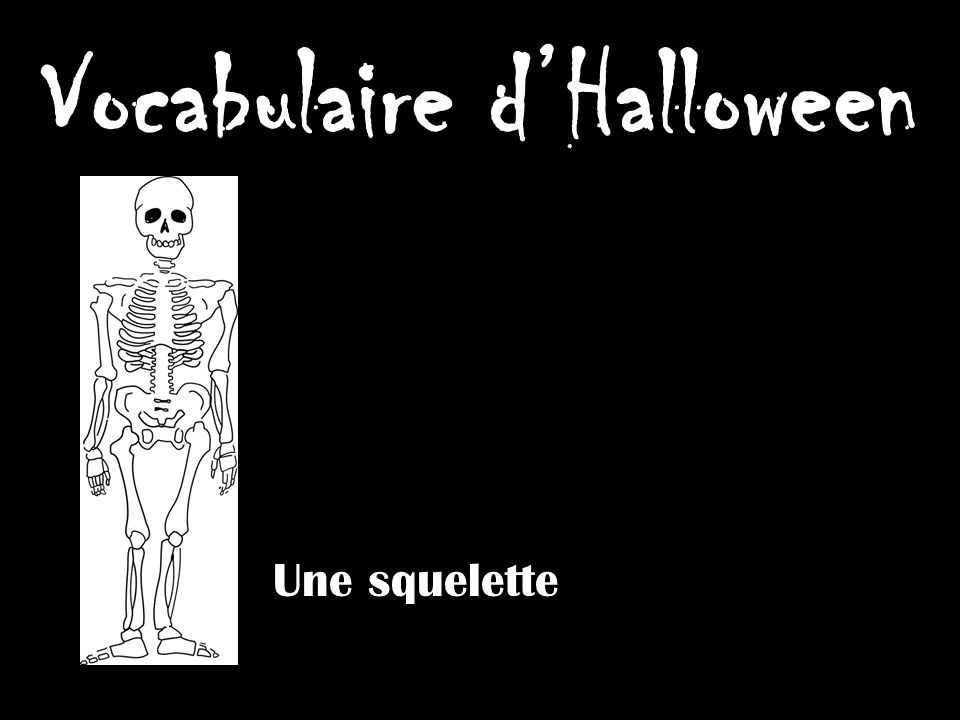 Vocabulaire dHalloween Un zombie