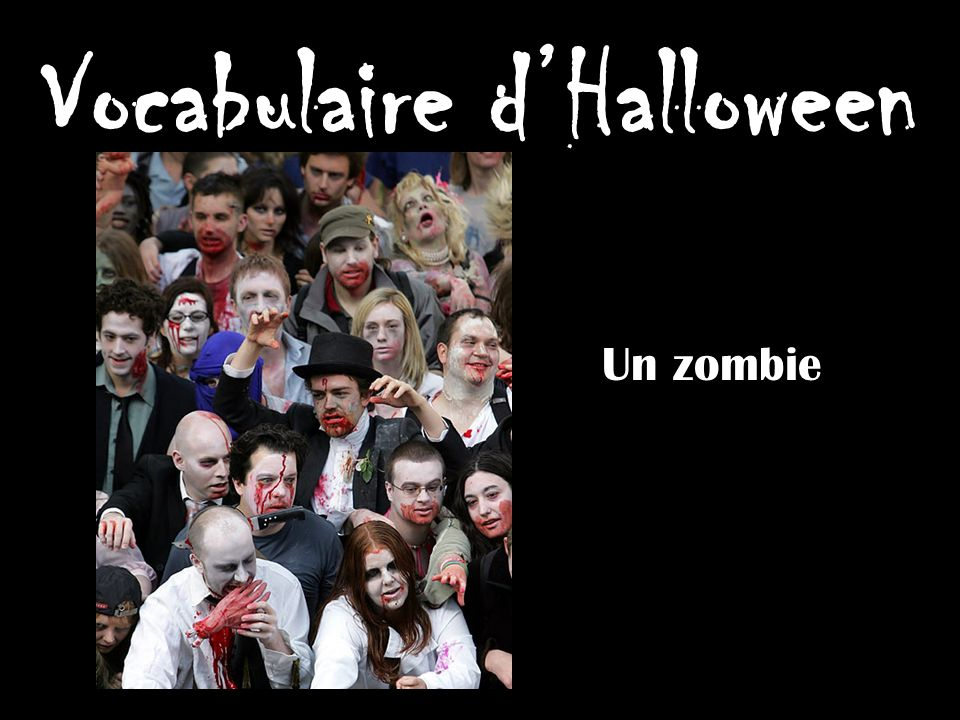 Vocabulaire dHalloween Un vampire