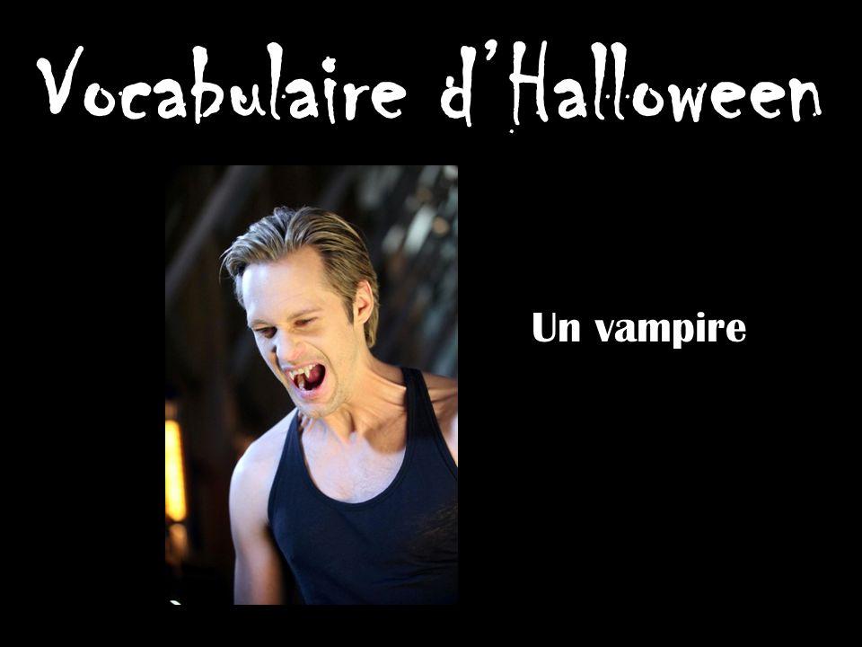 Vocabulaire dHalloween Un vampire
