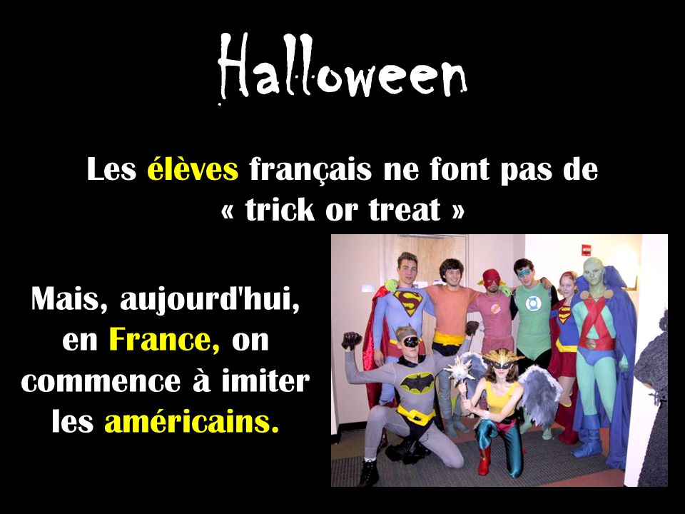Vocabulaire dHalloween Un costume