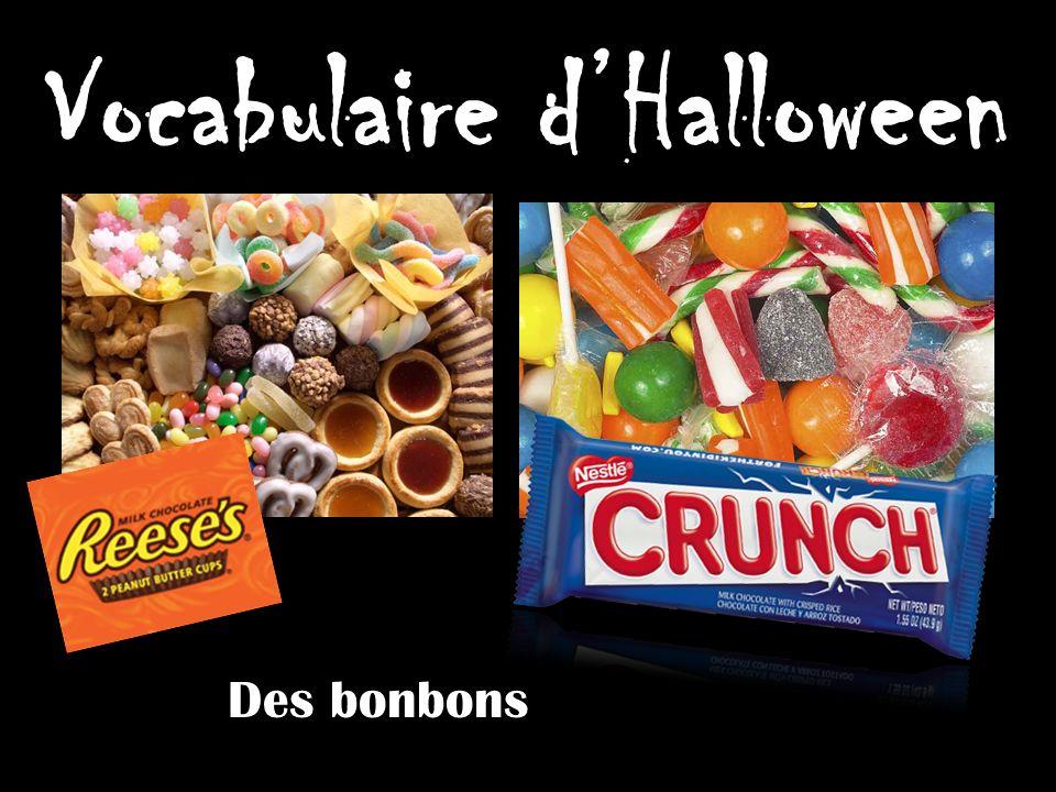 Vocabulaire dHalloween Des bonbons