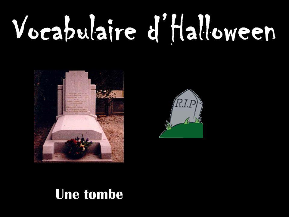 Vocabulaire dHalloween Une tombe