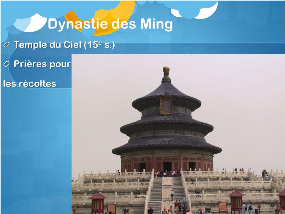 Dynastie des Ming Temple du Ciel (15 e s.) Prières pour les récoltes