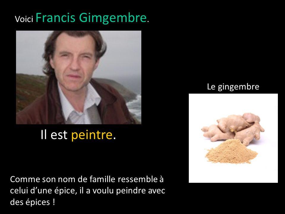 Voici Francis Gimgembre.Il est peintre.