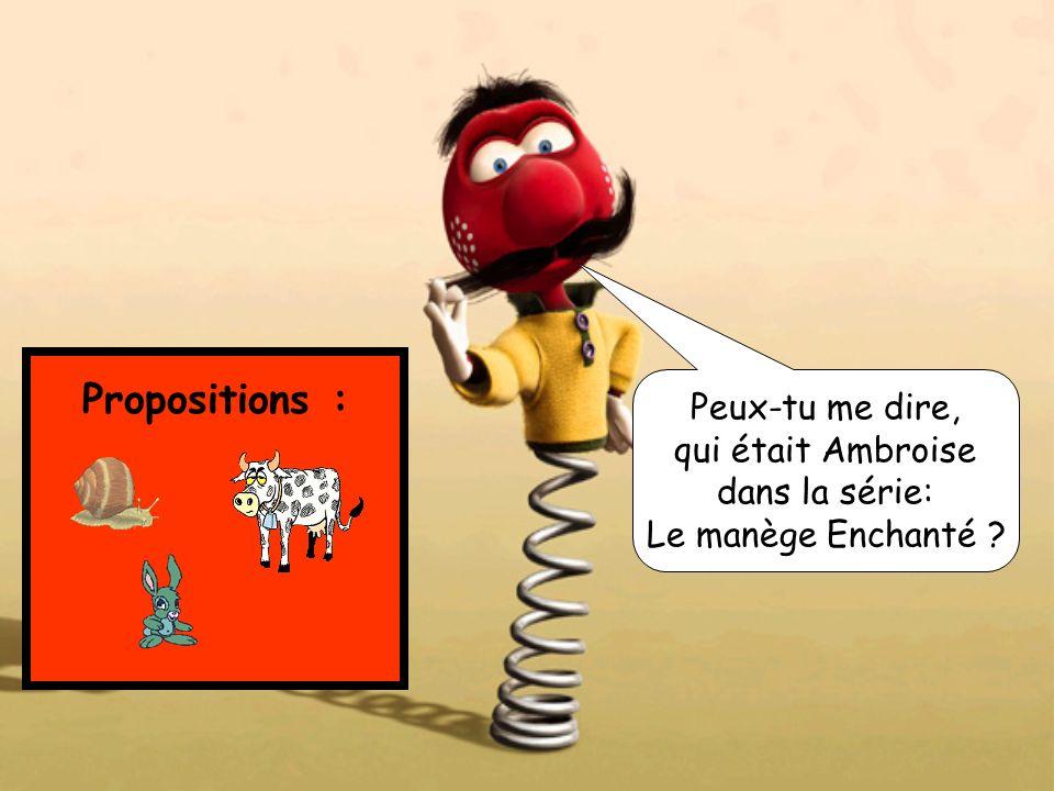 Propositions : Peux-tu me dire, qui était Ambroise dans la série: Le manège Enchanté ?