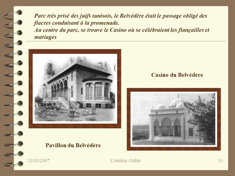 13 Pavillon du Belvédère Casino du Belvédère Parc très prisé des juifs tunisois, le Belvédère était le passage obligé des fiacres conduisant à la prom