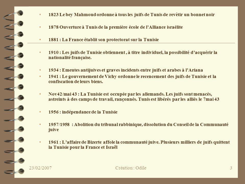 3 1823 Le bey Mahmoud ordonne à tous les juifs de Tunis de revêtir un bonnet noir 1878 Ouverture à Tunis de la première école de lAlliance israélite 1