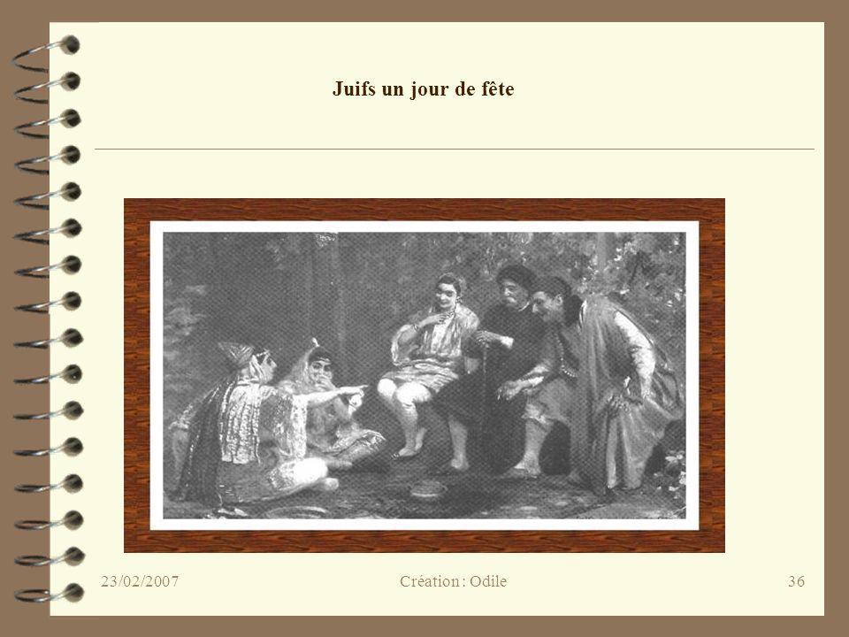 36 Juifs un jour de fête Création : Odile23/02/2007