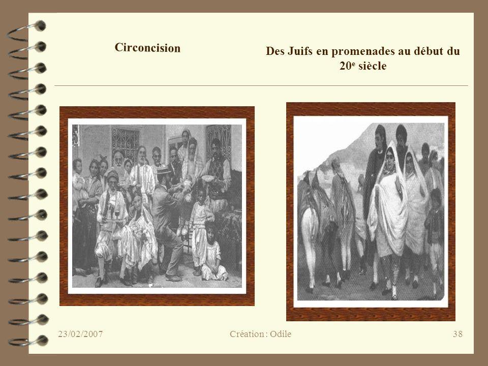 38 Circoncision Des Juifs en promenades au début du 20 e siècle Création : Odile23/02/2007