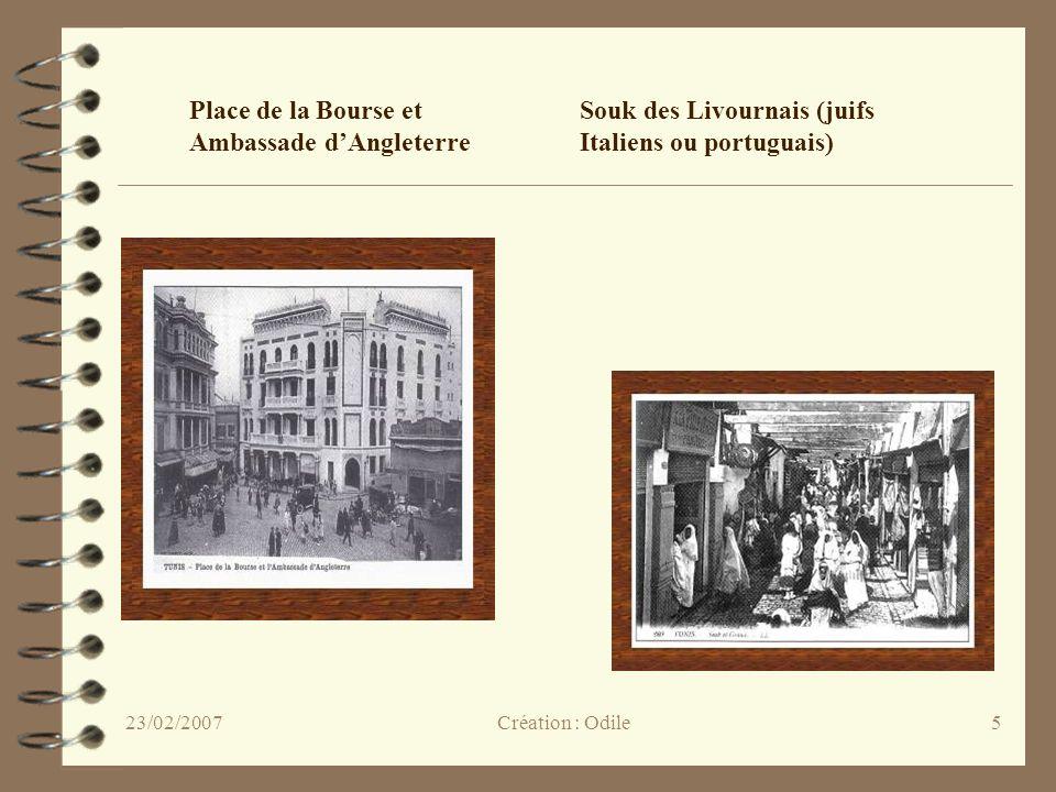 6 Porte de France La Mosquée Sidi Mahrez Selon la légende, Sidi Mahrez autorisa linstallation des juifs à Tunis au Xe siècle Création : Odile23/02/2007