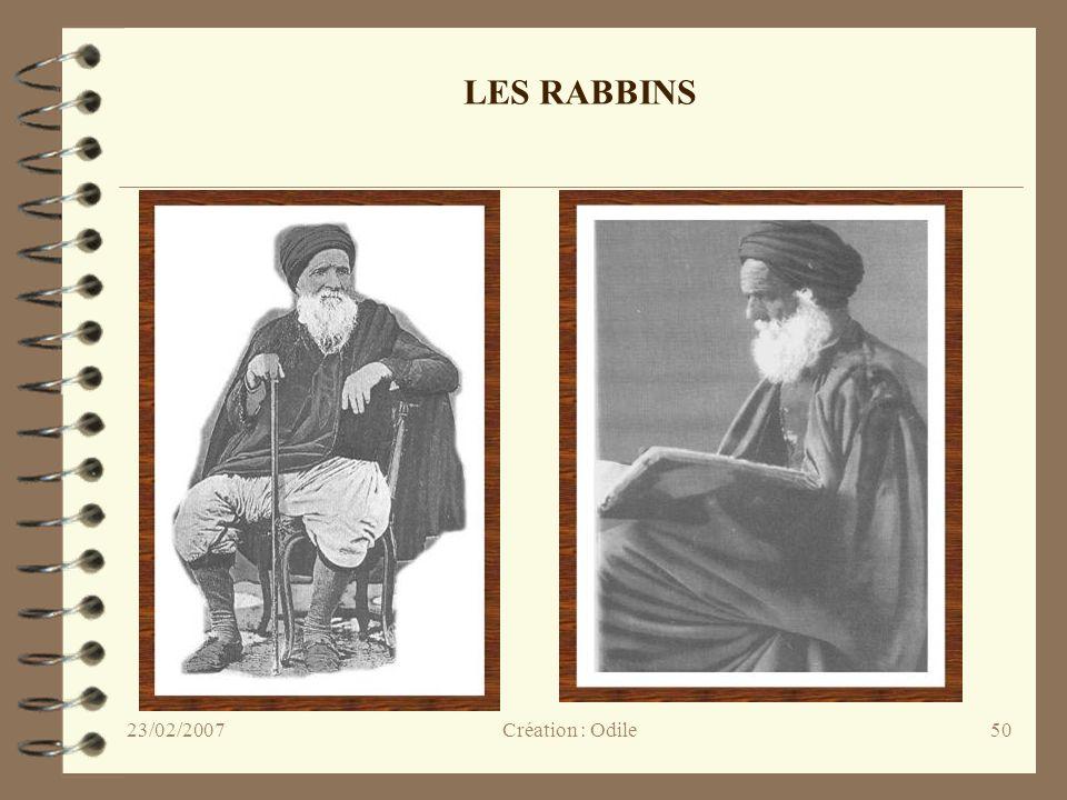 50 LES RABBINS Création : Odile23/02/2007