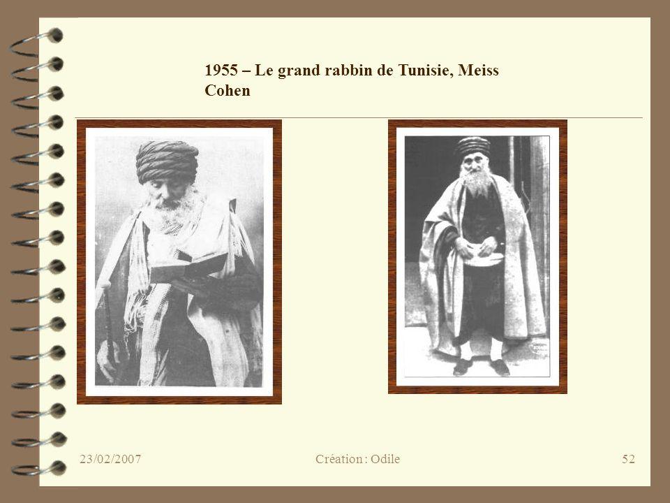 52 1955 – Le grand rabbin de Tunisie, Meiss Cohen Création : Odile23/02/2007