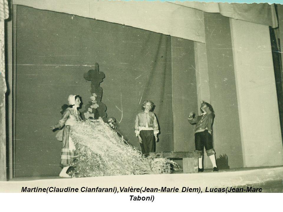 Martine(Claudine Cianfarani),Valère(Jean-Marie Diem), Lucas(Jean-Marc Taboni)