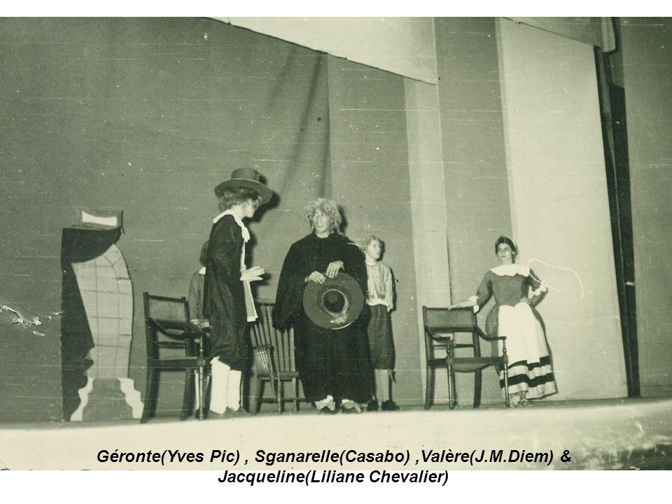 Géronte(Yves Pic), Sganarelle(Casabo),Valère(J.M.Diem) & Jacqueline(Liliane Chevalier)