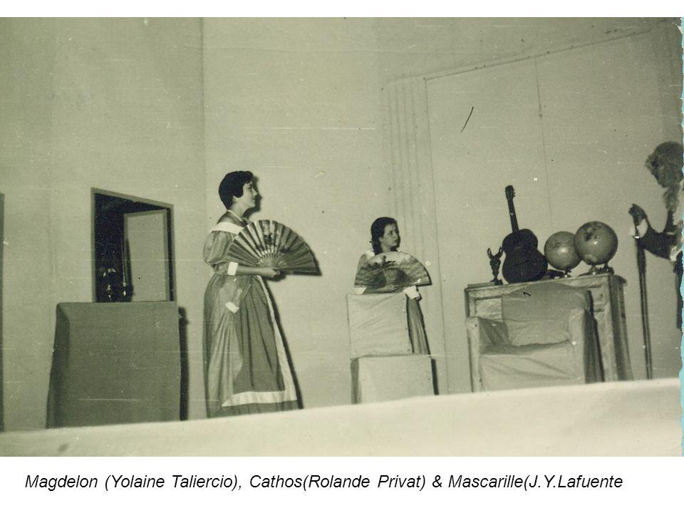 Magdelon (Yolaine Taliercio), Cathos(Rolande Privat) & Mascarille(J.Y.Lafuente