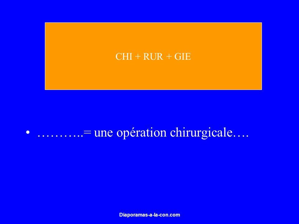 Diaporamas-a-la-con.com ………..= une opération chirurgicale…. CHI + RUR + GIE