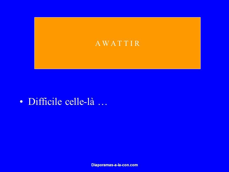 Diaporamas-a-la-con.com Difficile celle-là … A W A T T I R
