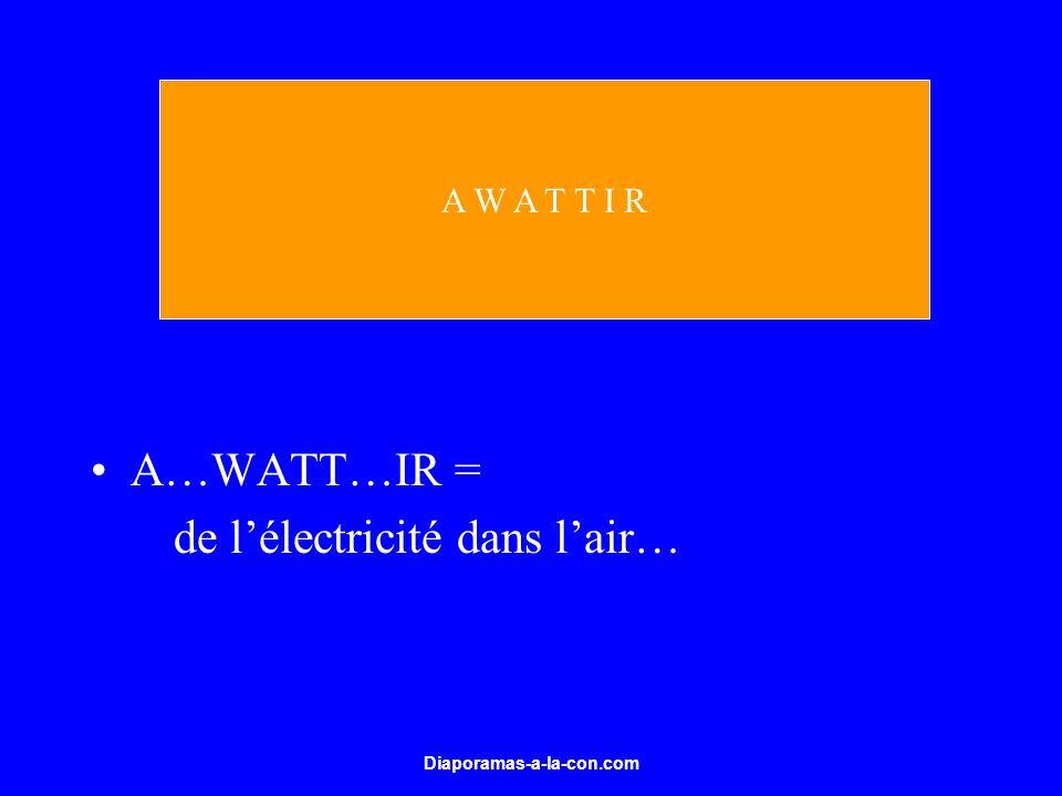Diaporamas-a-la-con.com A…WATT…IR = de lélectricité dans lair… A W A T T I R