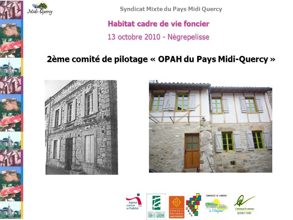Syndicat Mixte du Pays Midi Quercy Habitat cadre de vie foncier 13 octobre 2010 - Nègrepelisse 2ème comité de pilotage « OPAH du Pays Midi-Quercy »