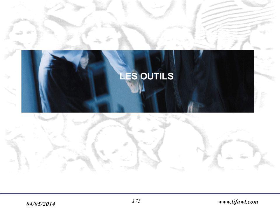 04/05/2014 www.tifawt.com 173 LES OUTILS