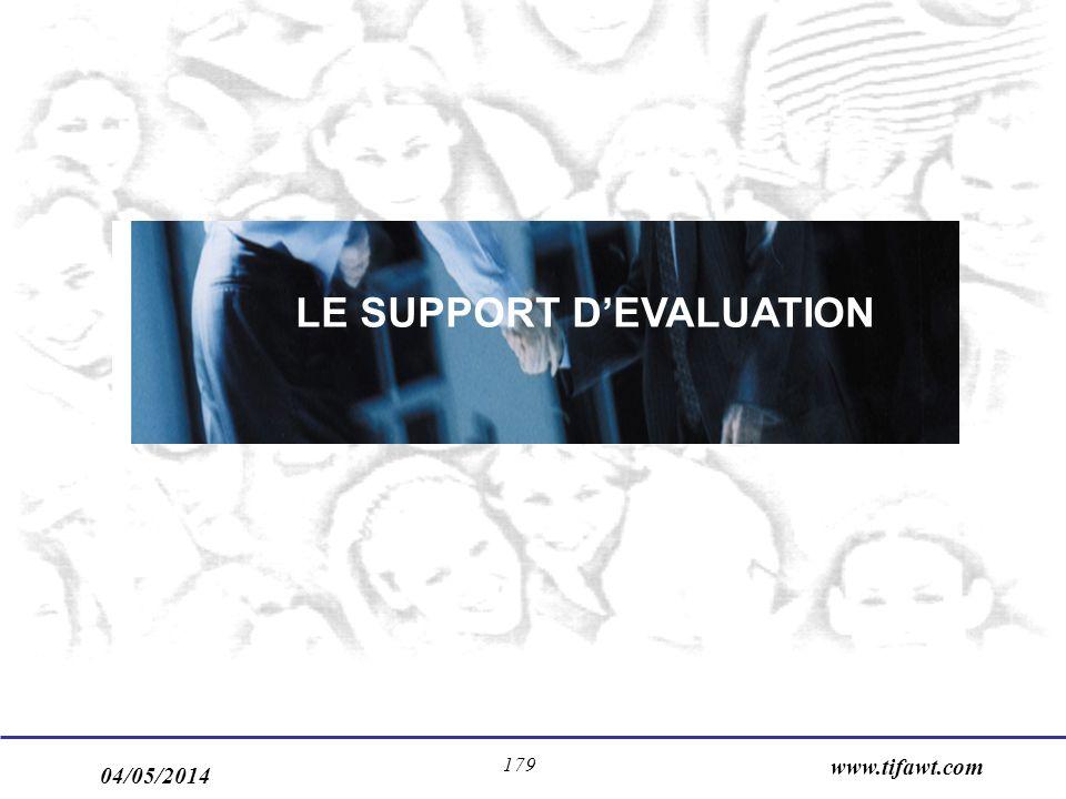04/05/2014 www.tifawt.com 179 LE SUPPORT DEVALUATION