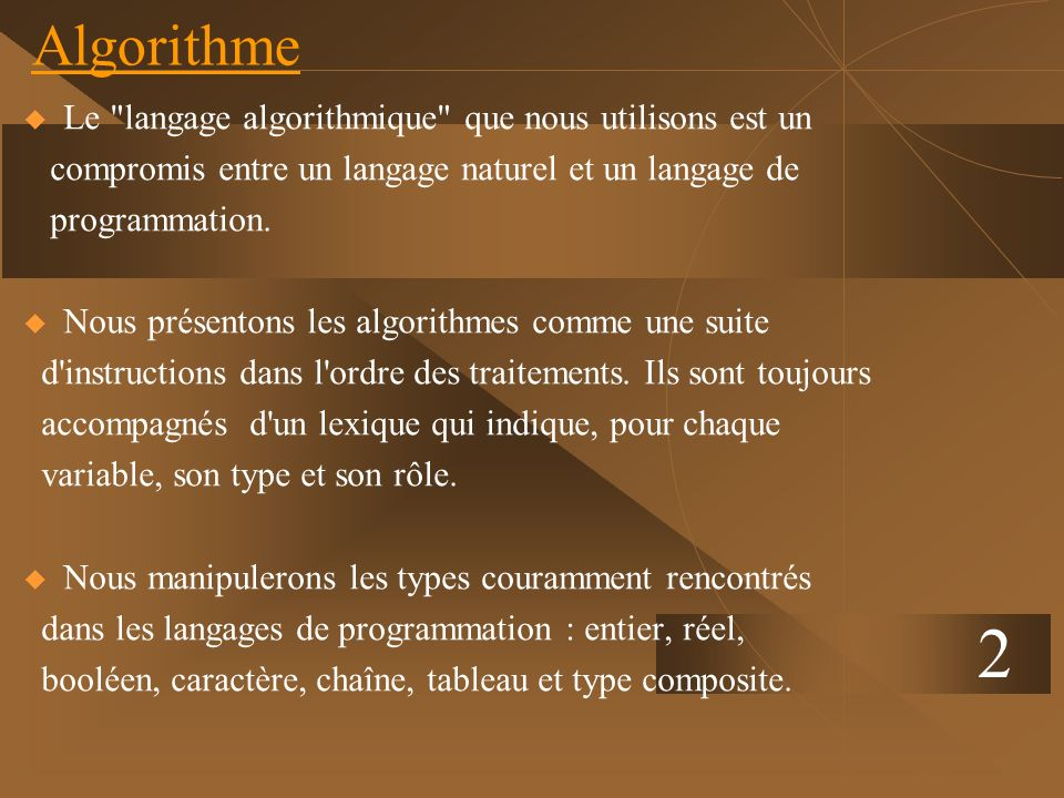 2 Algorithme Le