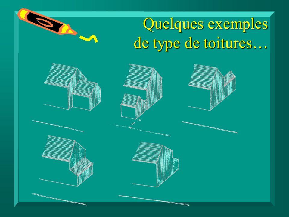 Quelques exemples de type de toitures…