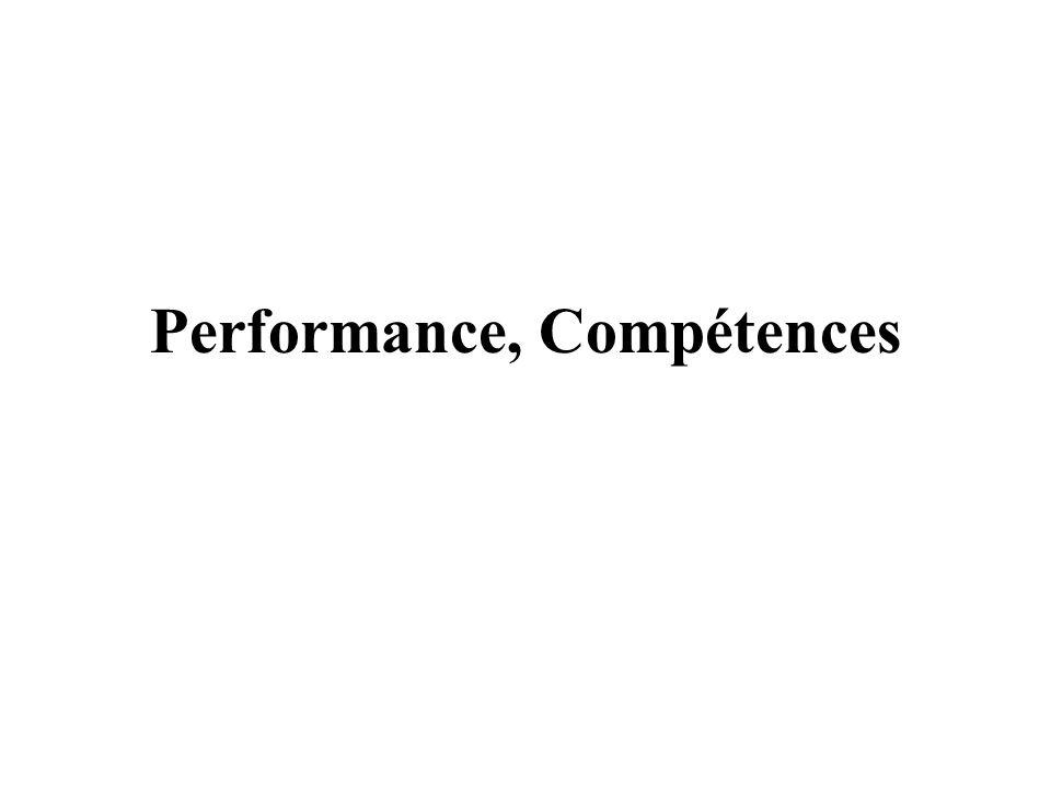 Analyse critique Performance / Compétence A trois niveaux –Entreprise –Équipe –Individu Au travers –Rappel de concepts de base –Revue des outils –Un exemple